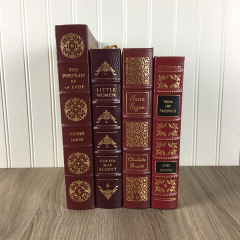 ZZ Easton Press 100 Greatest Lot - Austin Bronte Alcott James - leather bound - NextStage Vintage