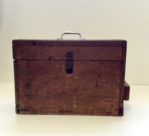 Wooden tool box - benchmade box for storage or decor - vintage 1930s - NextStage Vintage