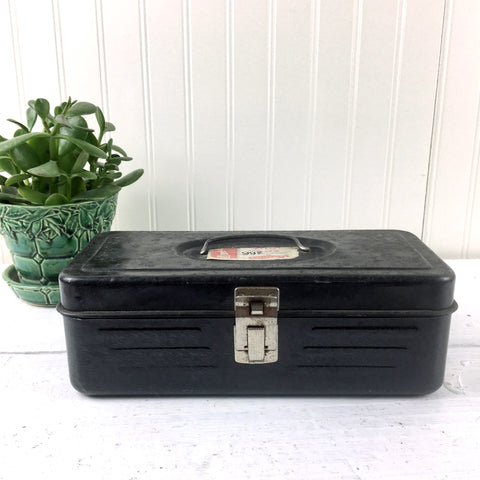 Woolworth's Tool and Utility Box - vintage 1960s metal tool box