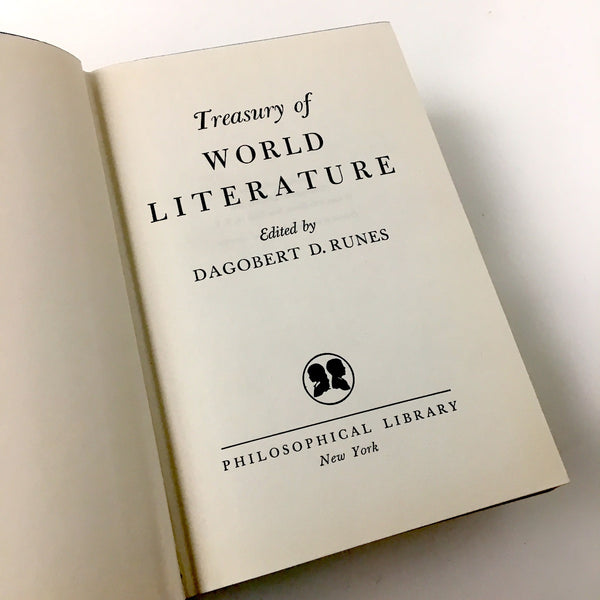 Treasury of World Literature - Dagobert D. Runes - 1956 - NextStage Vintage