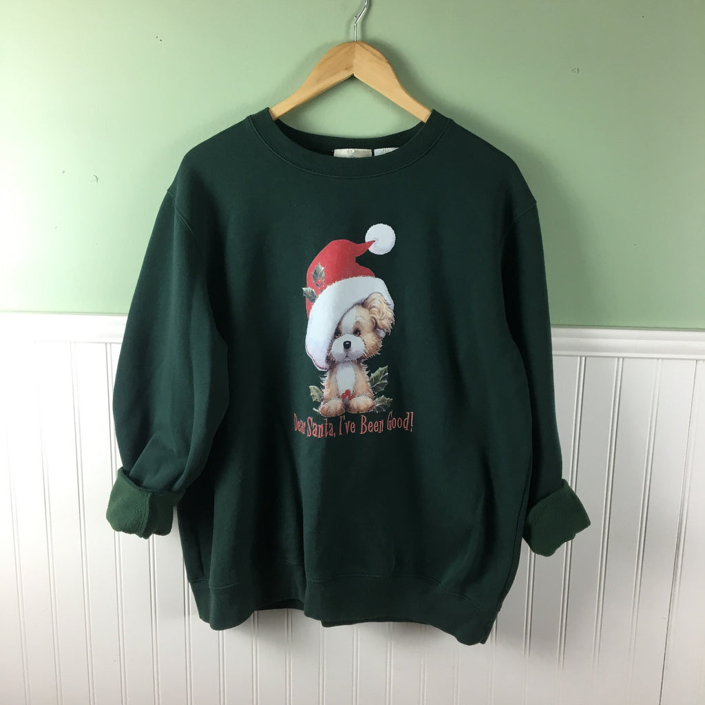 Good doggo Christmas sweatshirt - vintage holiday - size XL