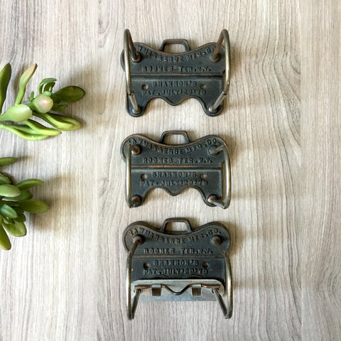 Yawman & Erbe Mfg. Co. Shannon's clipboard paper holder - set of 3 - antique office hardware