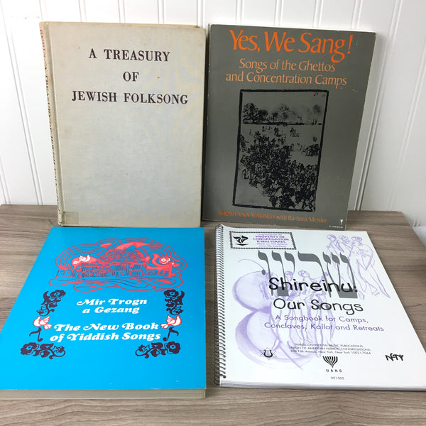 Yiddish and Hebrew song book collection - 4 vintage books - NextStage Vintage
