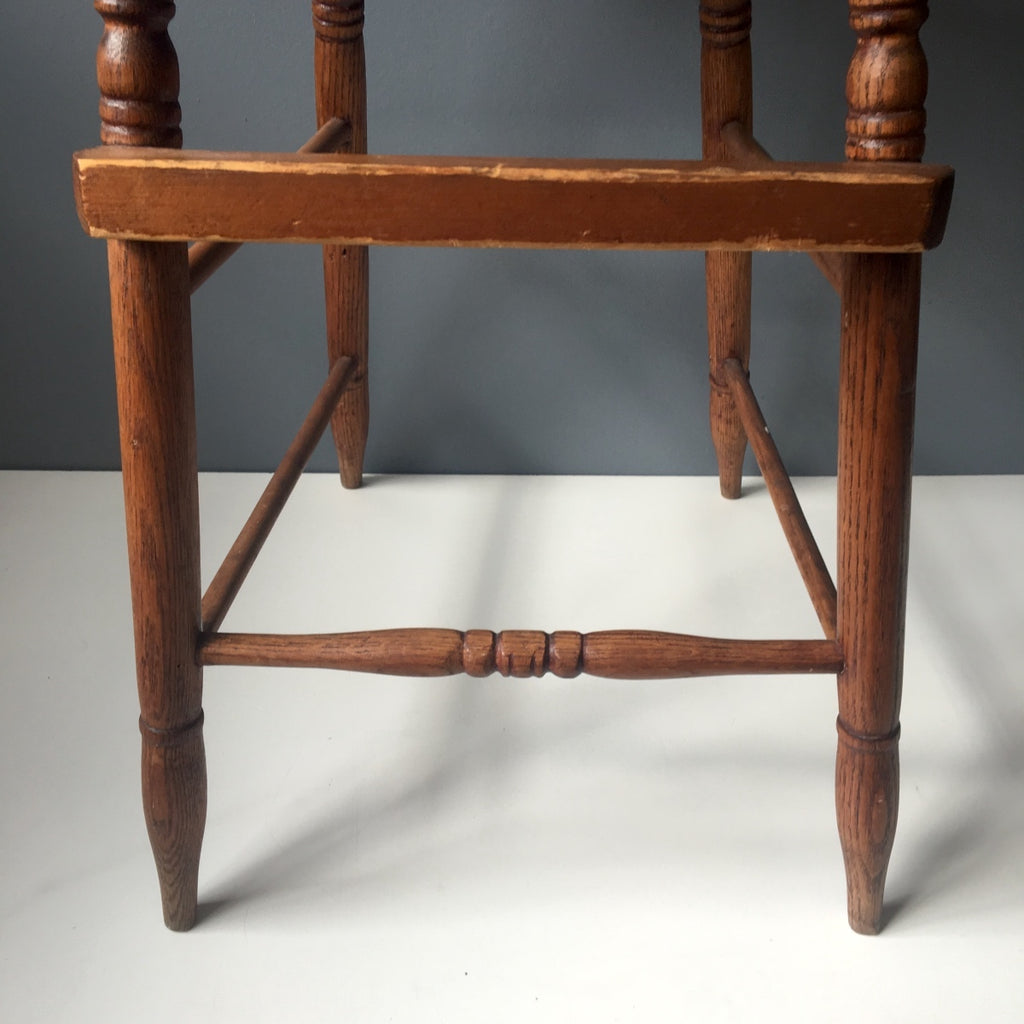 ... Antique oak youth chair - stick built with caned seat - early 1900s -  NextStage Vintage - Antique Oak Youth Chair - Stick Built With Caned Seat - Early 1900s