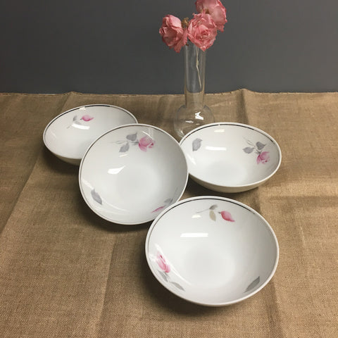 Johann Haviland - 4 fruit bowls - Eva Zeisel design with roses - 1970s vintage