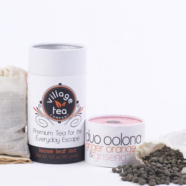 Organic DUO Oolong: Ginger Orange Oolong and Ginseng Oolong