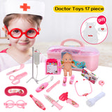 Doctor Play Toys Set Doctora Juguetes 17pcs for Child Medical Kit Baby Educational