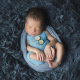Newborn Props Soft Mohair Costume Infant Knitted Buttons For Baby  Newborn Photography Accessories