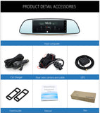 Car DVR 3G Rearview 7 Inches Mirror Dual Lens Recorder Camera Full HD 1080P DashCam Android 5.0 GPS Registrar Navigation RAM 1GB / ROM 8GB - MyGlobalGear