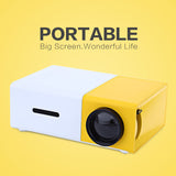 GLOBALFILM LED Portable Projector  HDMI USB Mini Projector Home Media Player