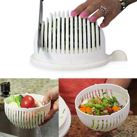 Salad Cutter Bowl - Make salad within 60 seconds - MyGlobalGear