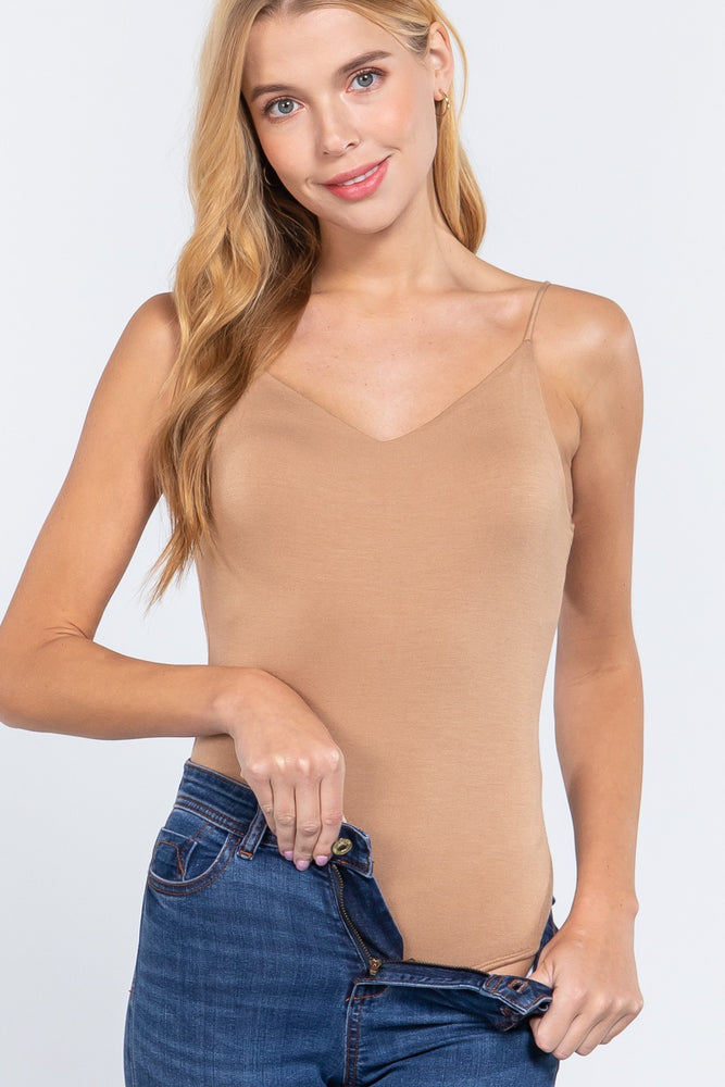 V-neck 2 Ply Cami Bodysuit