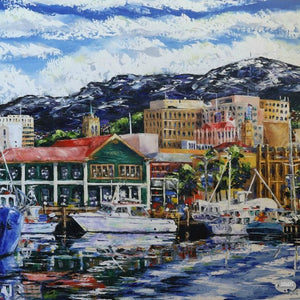 Another Inspired Hobart Cityscape by Tasmanian Artist, Esther Shohet