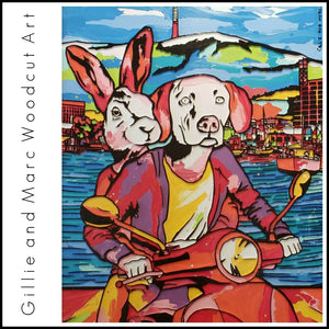 Gillie and Marc Woodcut Art Available at Gallery Salamanca