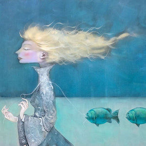 A Real Delight...New Work by Australian Pastel Artist, Kate Smith ~ 'A Reel Expert'