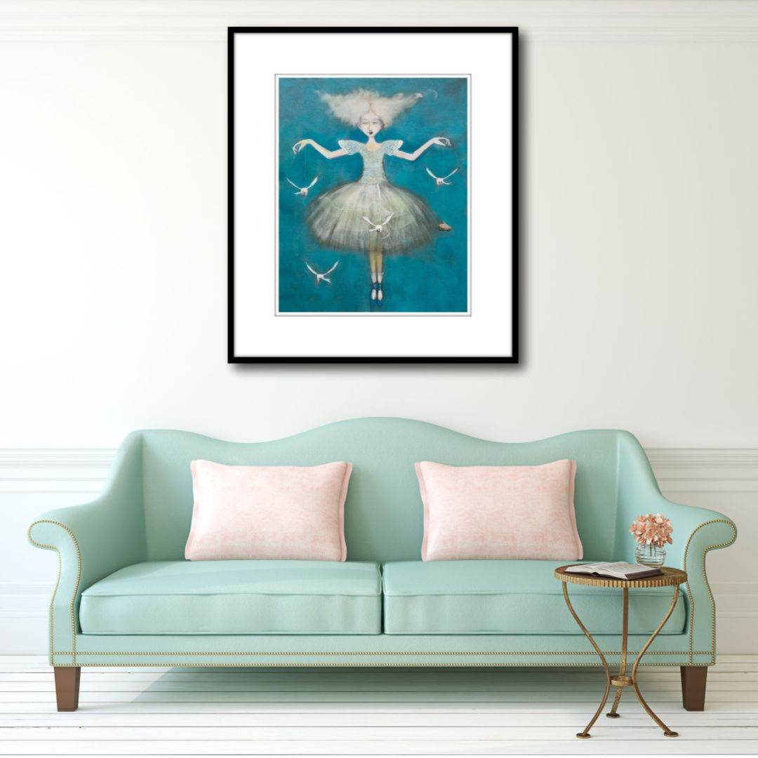 If You Love Whimsy...Then Kate Smith's Pastel Artwork , 'The Gulls', is For YOU