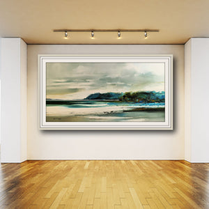Tasmanian Artist, Peter Barraclough, Paints the Beauty of 'D'Entrecasteaux - NW Bay, Southern Tasmania'
