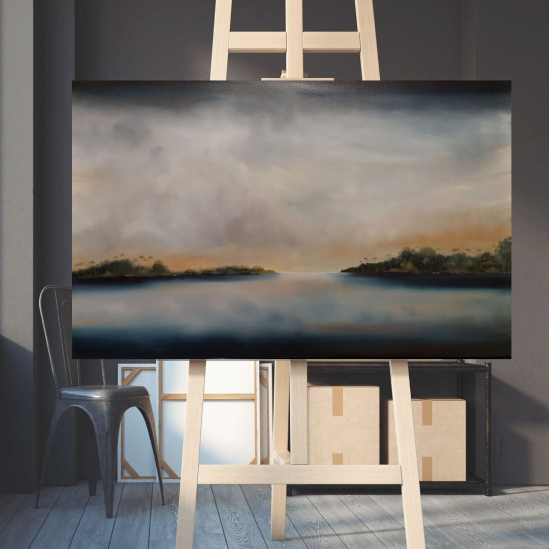 'Still Waters, Cockle Creek' by Tasmanian Landscape & Seascape Artist, Stuart Clues