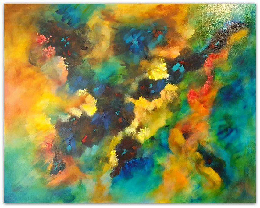 Australian Abstract Artist Mitch Miller Painting ~ 'The Journey' - Gallery Salamanca and Gallery Tasman
