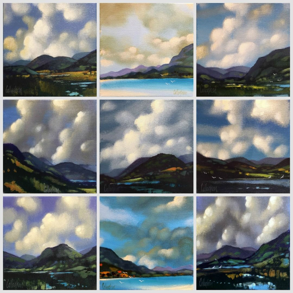 George Callaghan Exhibition 'Cloud Studies' at Gallery Salamanca Hobart Tasmania
