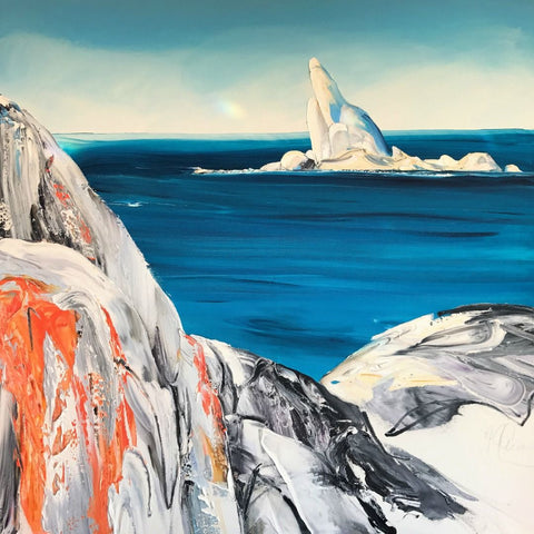 Judy Antill Painting ~ 'Sloop Majestic' at Gallery Salamanca Tasmania