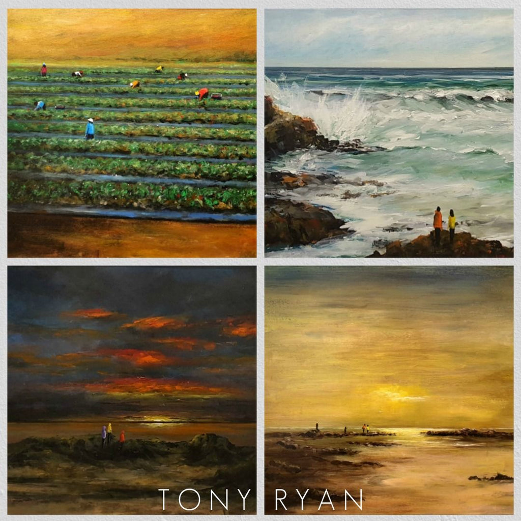 Tony Ryan Paintings Exhibited at Gallery Salamanca Hobart Tasmania