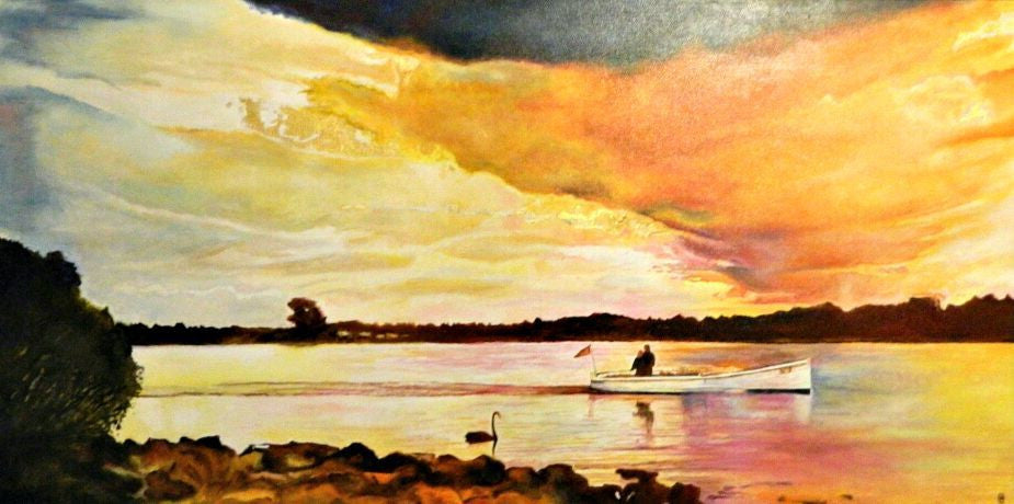 Andrew Causon Painting ~ 'Storm Approaching' - Gallery Salamnca