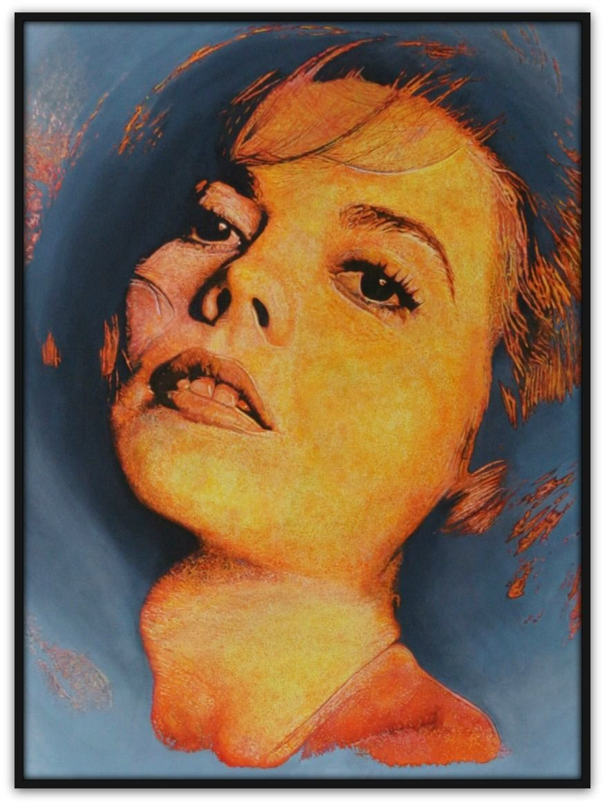 Andrew Causon Painting ~ 'Dark Waters' (Natalie Wood) - Gallery Salamanca Tasmania