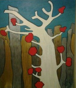 Bobby-Z Lambert Painting ~ 'Intimate Tree'