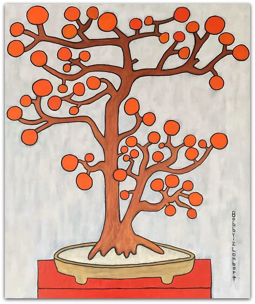 Bobby-Z Lambert Painting ~'Winter Persimmon Tree' - Gallery Salamanca Tasmania