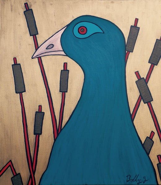 Bobby-Z Lambert Painting ~ 'Lady Franklin - The Native Hen'