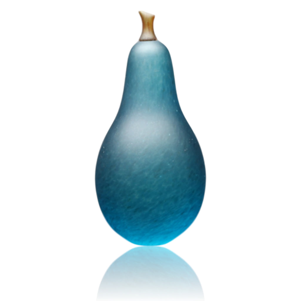 Denizen Hand-Blown Glass ~ Pear (Turquoise)