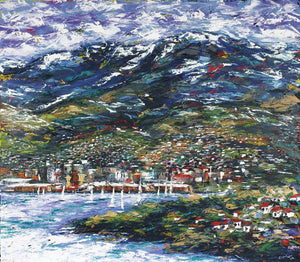 Esther Shohet Painting ~ 'This is Hobart' - Gallery Salamanca