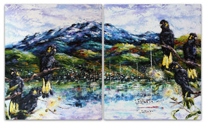 Esther Shohet Painting ~ 'Enjoying the View' - Gallery Salamanca Tasmania