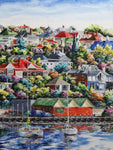 Esther Shohet Painting ~ 'A Peaceful Life' - Gallery Salamanca Hobart Tasmania