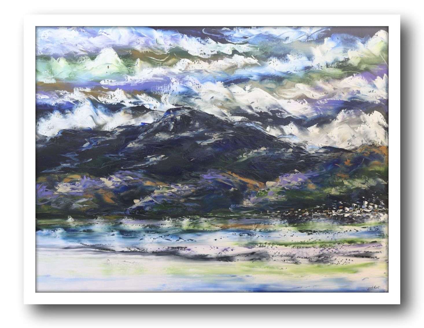 Esther Shohet Painting ~ 'A Storm is Coming' - Gallery Salamanca Hobart Tasmania