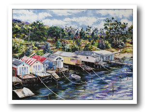 Esther Shohet Painting ~ 'Another Day in Paradise' - Gallery Salamanca Hobart Tasmania