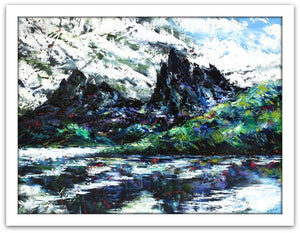 Esther Shohet Painting ~ 'Changing Weather', Cradle Mountain -Gallery Salamanca