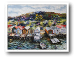 Esther Shohet Painting ~ 'Every Day's a Holiday at Cornelian Bay' - Gallery Salamanca Hobart Tasmania