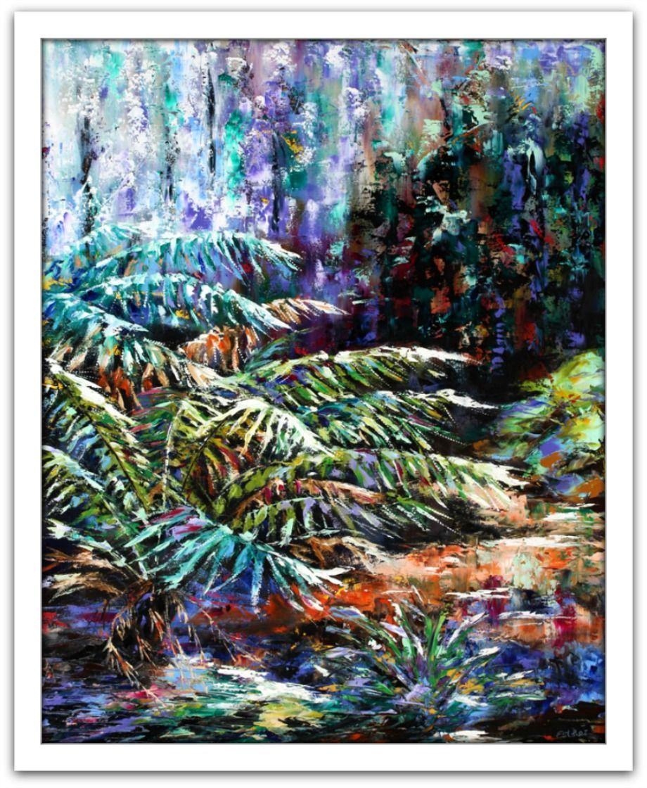 Esther Shohet Painting ~ 'Forest Colours' - Gallery Salamanca Hobart Tasmania