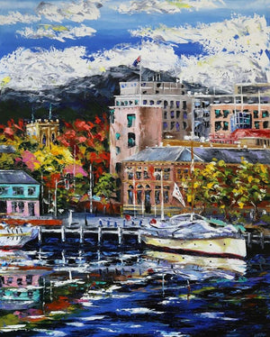 Esther Shohet Painting ~ 'Hobart...A Bit of Everything' - Gallery Salamanca Hobart Tasmania