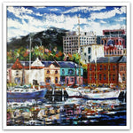 Esther Shohet Painting ~ 'Home to the May Queen, Hobart' - Gallery Salamanca