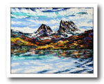 Esther Shohet Painting ~ 'Icy Waters' - Cradle Mountain - Gallery Salamanca Hobart Tasmania