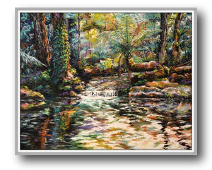 Esther Shohet Painting ~ 'In the Forest' - Gallery Salamanca Hobart Tasmania