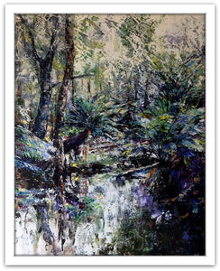 Esther Shohet Painting ~ 'Mount Field' - Gallery Salamanca Tasmania