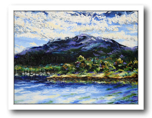 Esther Shohet Painting ~ 'Mount Wellington in Summer' - Gallery Salamanca Hobart Tasmania
