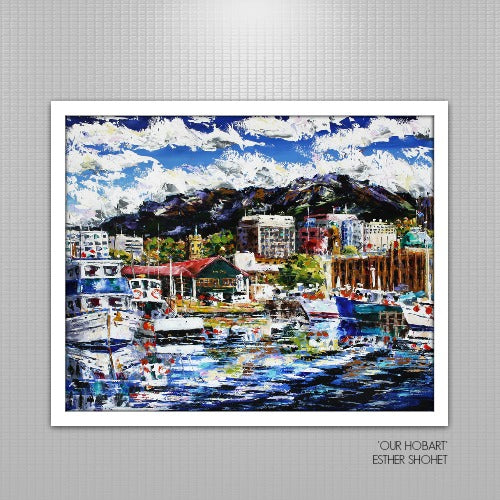 Esther Shohet Painting ~ 'Our Hobart' - Gallery Salamanca Tasmania