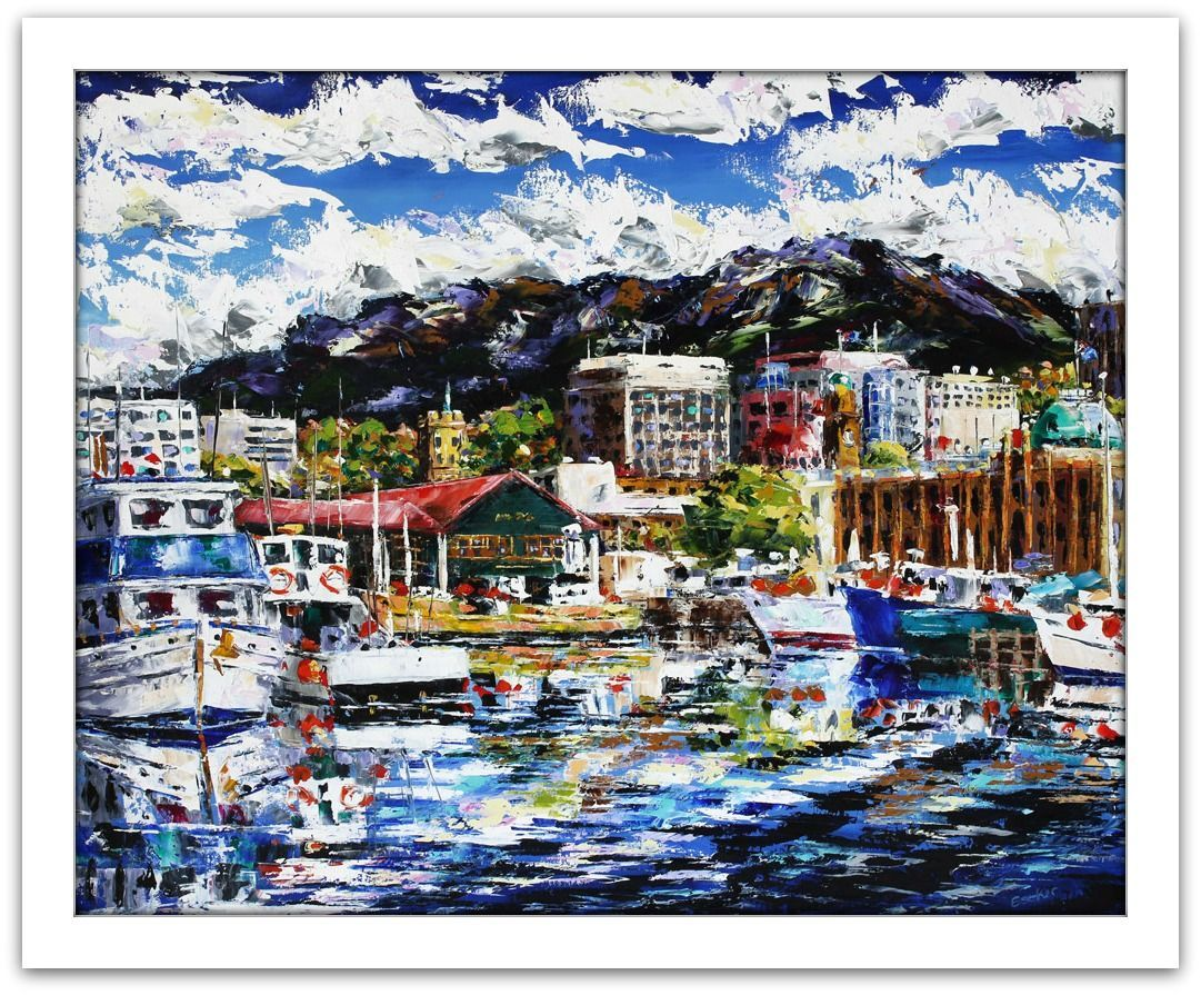 Esther Shohet Painting ~ 'Our Hobart' - Gallery Salamanca