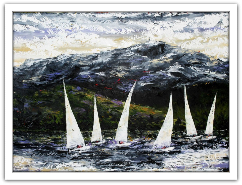 Esther Shohet Painting ~ 'Sailing the Derwent' - Gallery Salamanca Hobart Tasmania