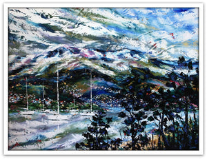 Esther Shohet Painting ~ 'September' - Mt Wellington - Gallery Salamanca Tasmania